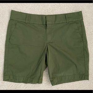 "J. Crew 9"" army green shorts (NWOT)"
